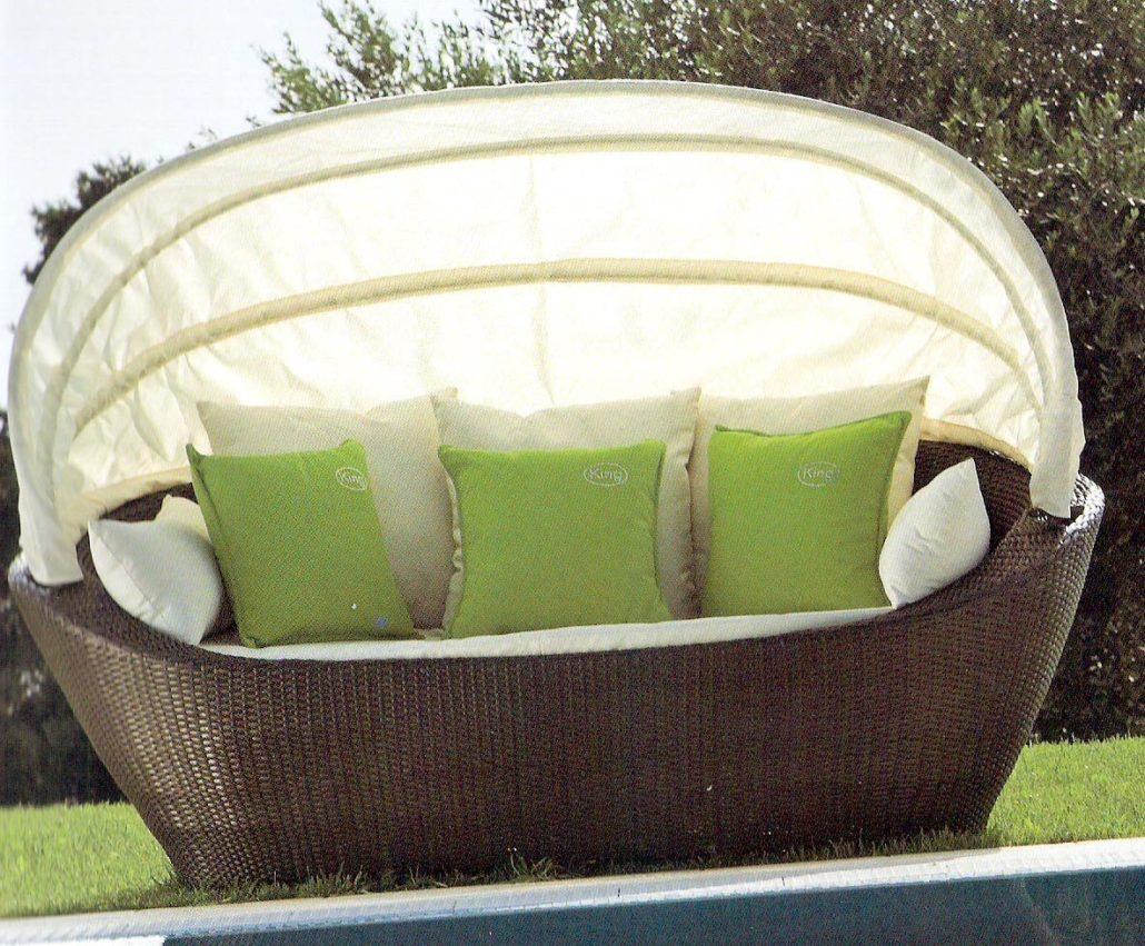 Cuscini Idrorepellenti Per Esterno divano in rattan sintetico per esterni con cuscini